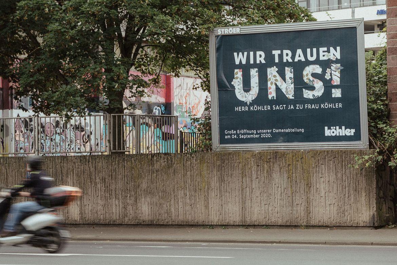 Modehaus Köhler Neueröffnung Plakate