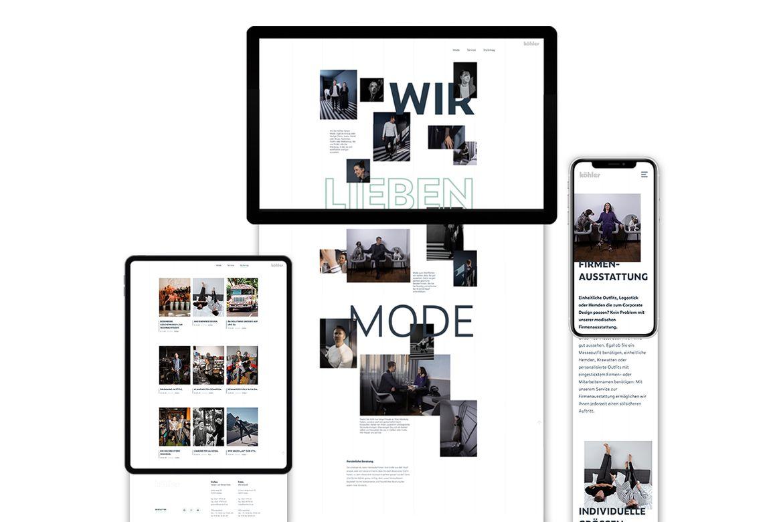 Modehaus Köhler Webseite