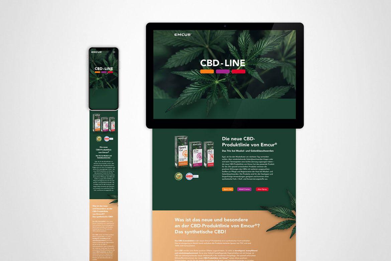 Emcur CBD-Line Landingpage