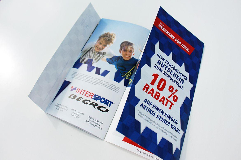 IIntersport Begro-Mailing zum Schulstart ntersport-Mailing-außen