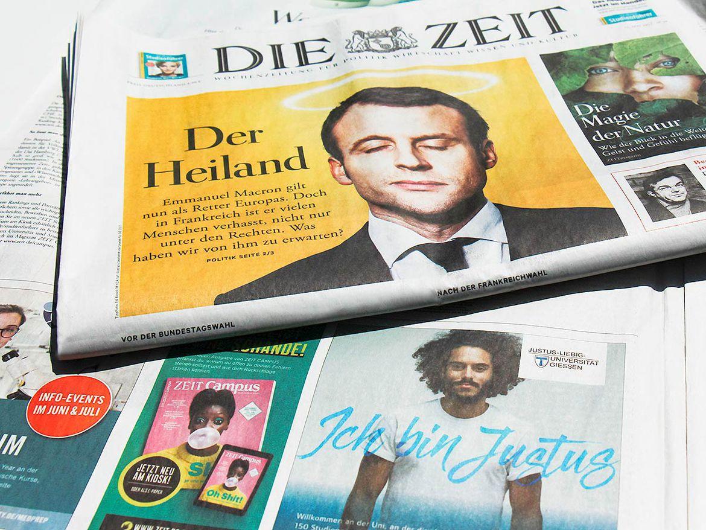 """JLU Anzeige """"Sei Justus"""" in der Zeit"""