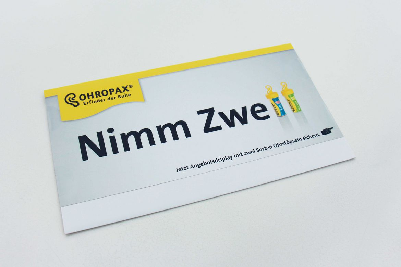 "Ohropax-Mailing ""Nimm 2"""