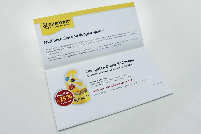 Ohropax Mailing Nimm zwei offen