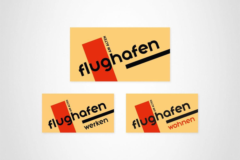 Revikon Am alten Flughafen Logo Entwicklung