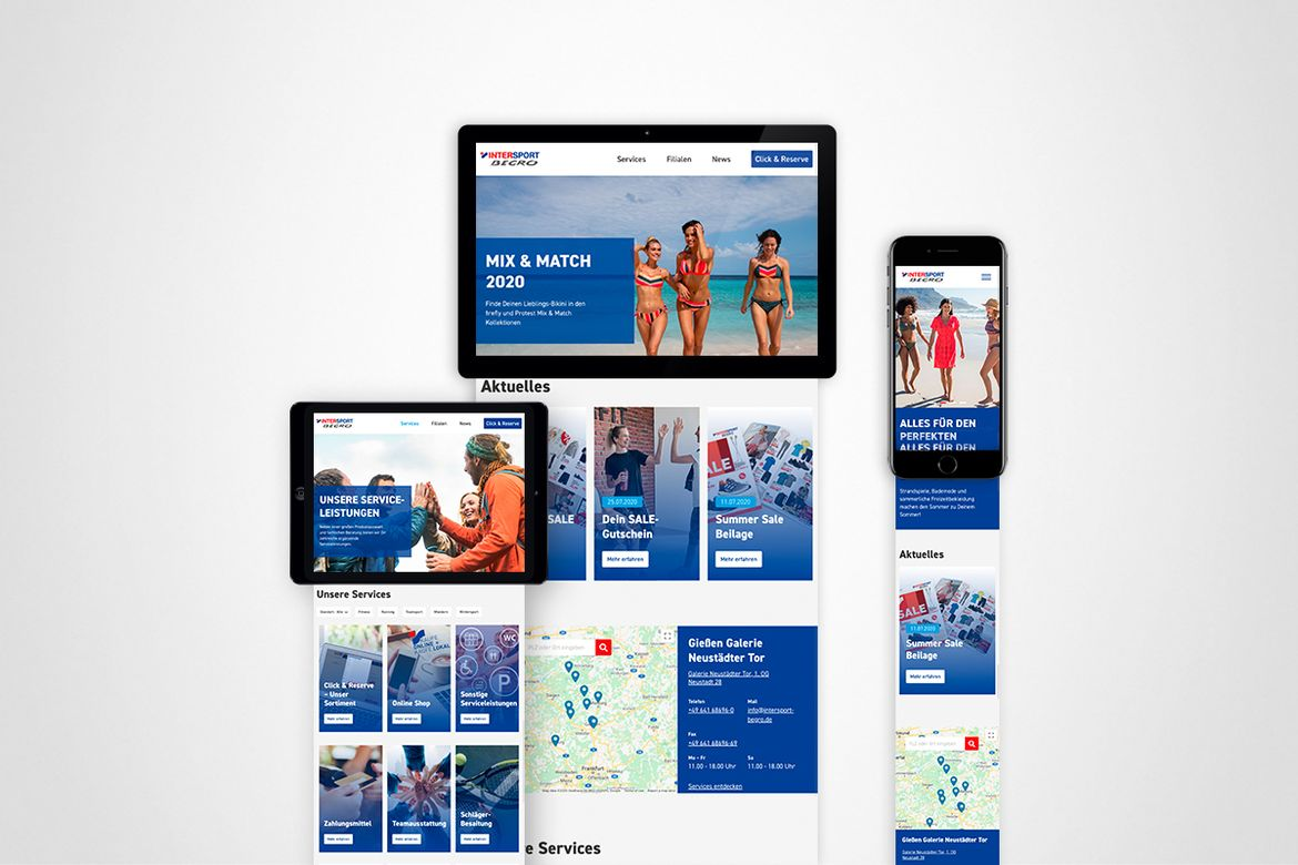Intersport Begro Website
