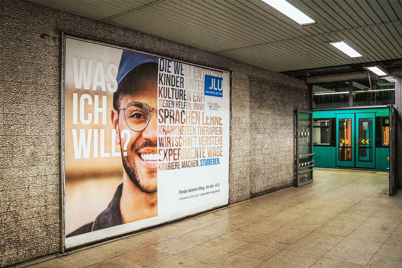 Großflächenplakat JLU Kampagne Studierende