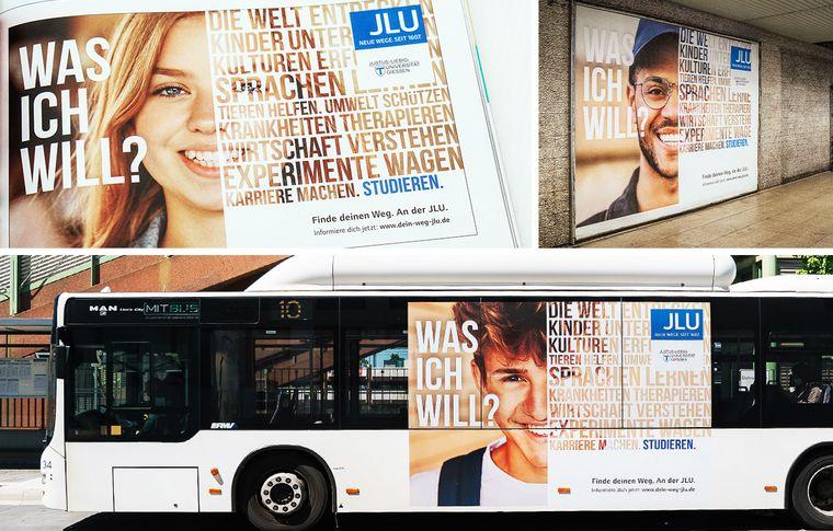 JLU Kampagne Studierendengewinnung Collage