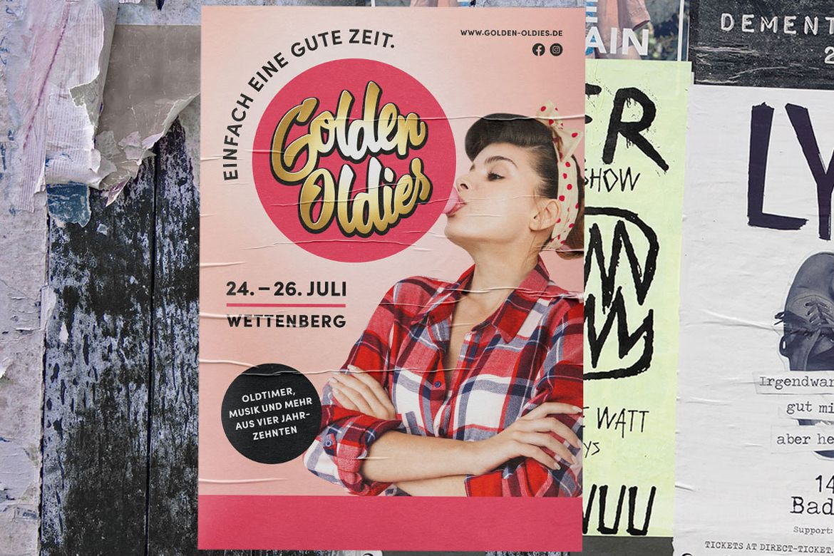 Plakat Golden Oldies 50er Jahre