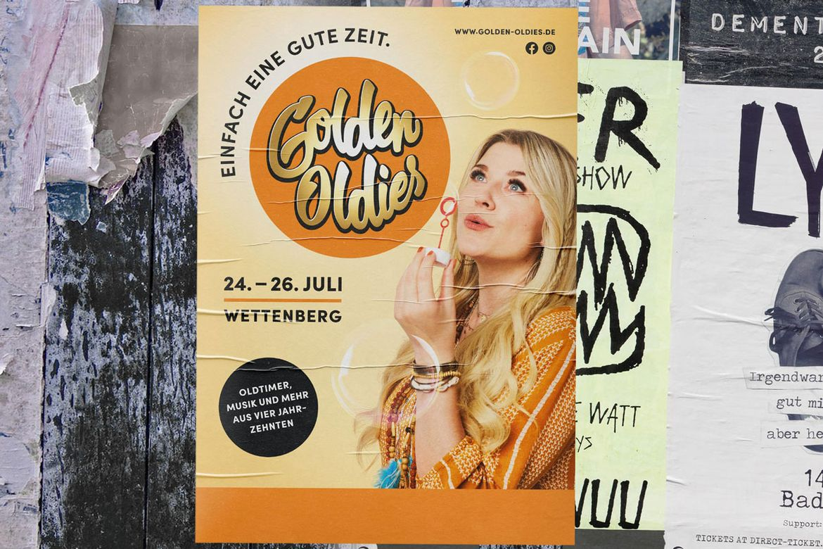 Plakat Golden Oldies 60er Jahre