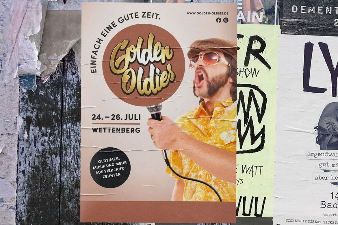 Plakat Golden Oldies 70er Jahre