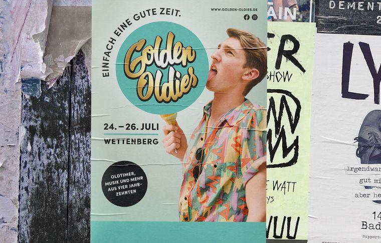 Plakat Golden Oldies 80er Jahre