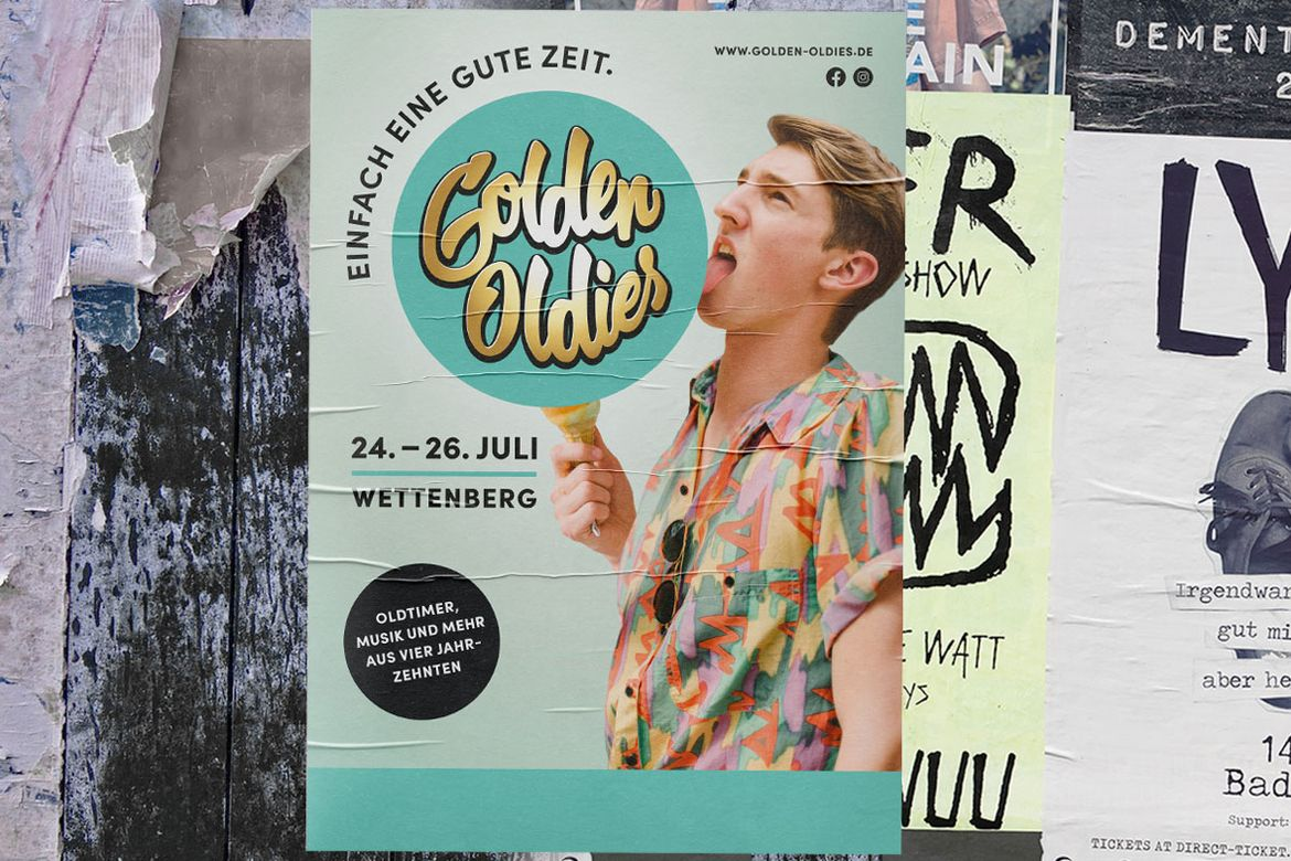Plakat Golden Oldies 80er Jahre