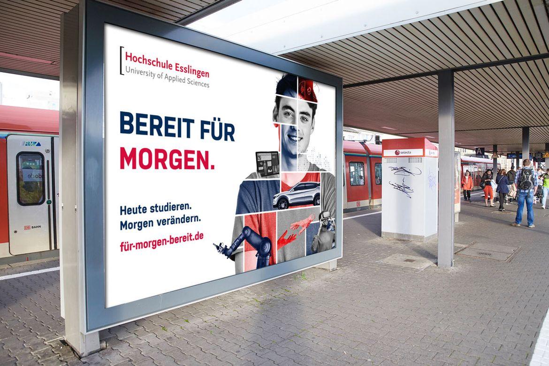 Kampagne Studierendengewinnung Hochschule Esslingen Großflächenplakat