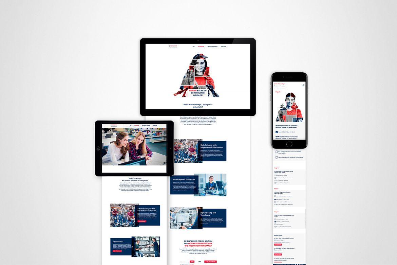 Kampagne Studierendengewinnung Hochschule Esslingen Website