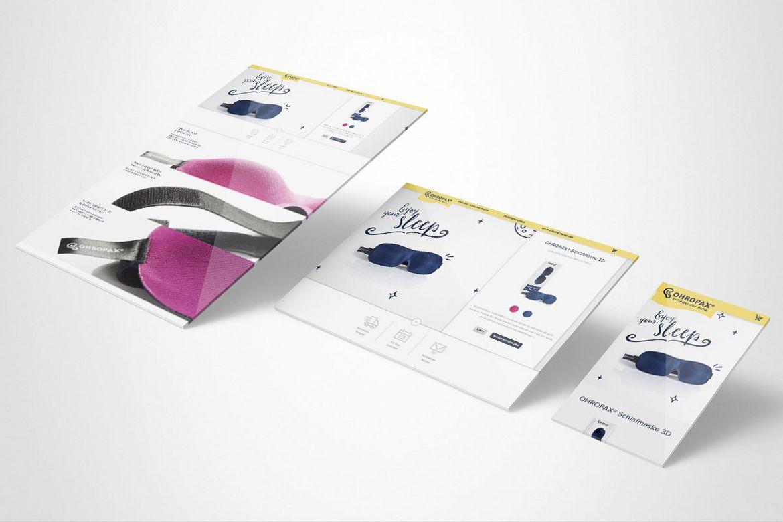 Ohropax Landingpages Schlafmaske