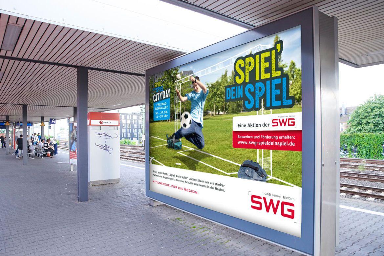 Stadtwerke Gießen-Kampagne Spiel dein Spiel-Großfläche