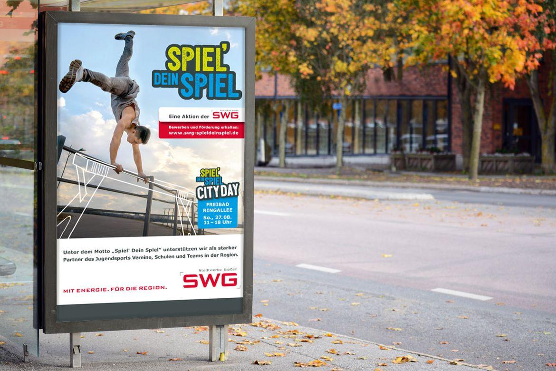 Stadtwerke Gießen-Kampagne Spiel dein Spiel-Citylights