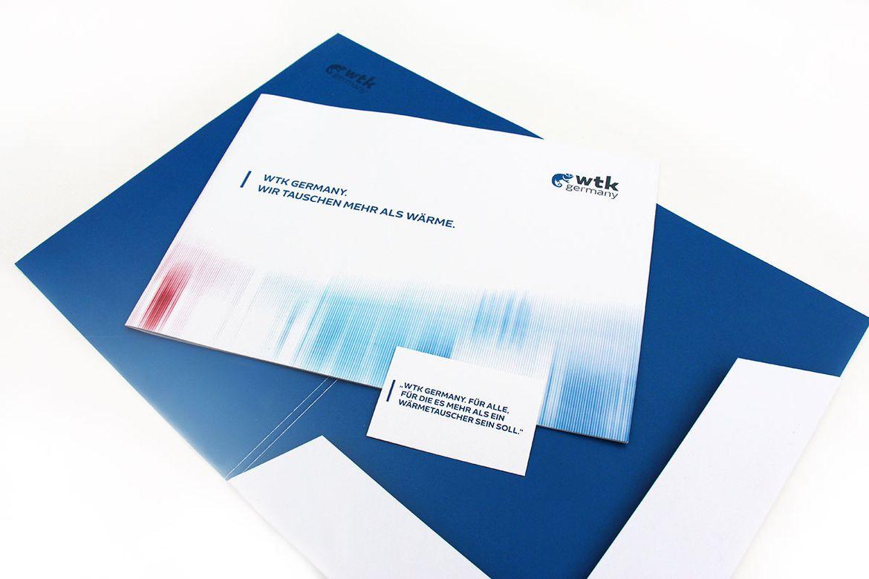 WTK Germany Imagebroschüre, Mappe und Visitenkarte
