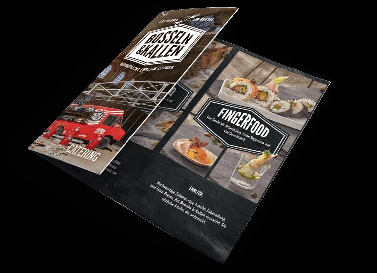Bosseln + Kallen Catering Flyer