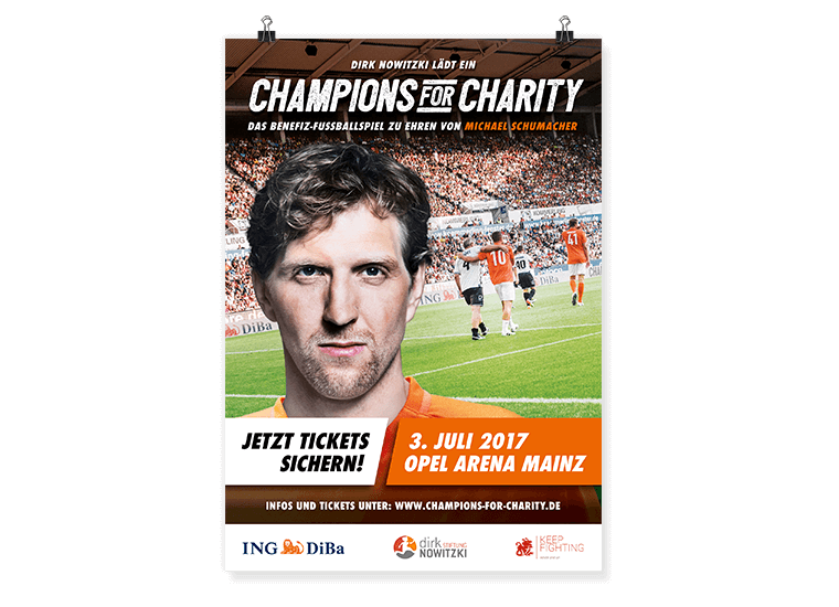 ING-DiBa Champions for Charity Key Visual