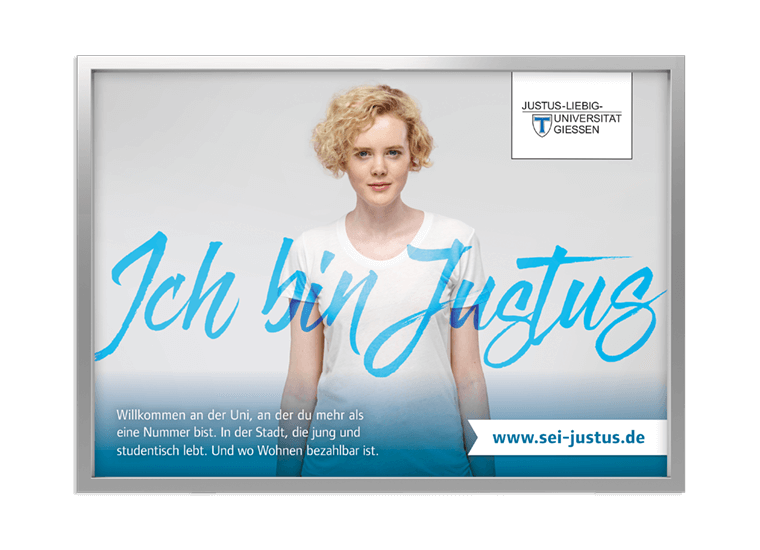 "JLU Kampagne ""Sei Justus"" Key Visual Großflächen"