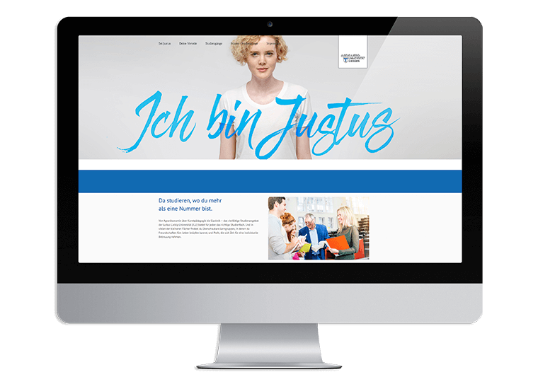 "JLU Kampagne ""Sei Justus"" Landingpage"