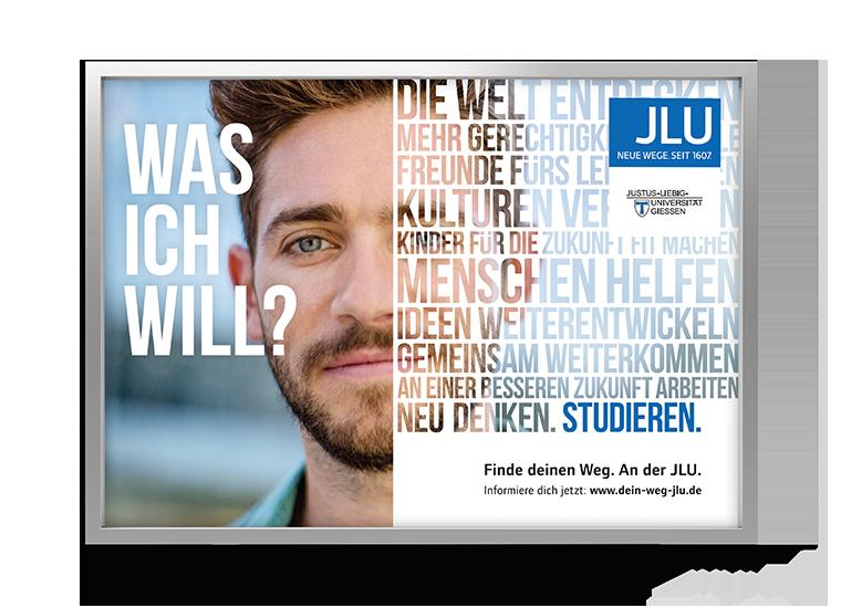 Motiv Männlich JLU Kampagne Studierende