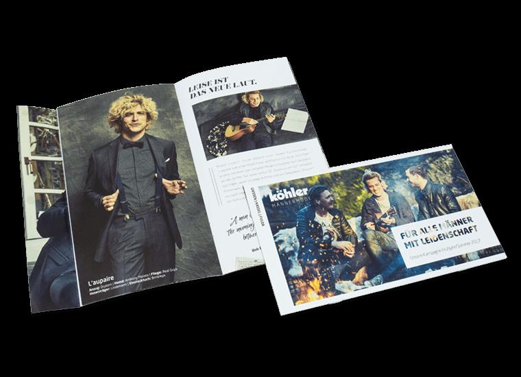 """Köhler Männermode Kampagne """"Feuer & Flamme"""" Mailing"""