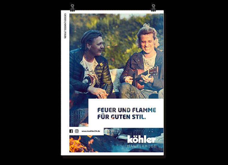 """Köhler Männermode Kampagne """"Feuer & Flamme"""""""
