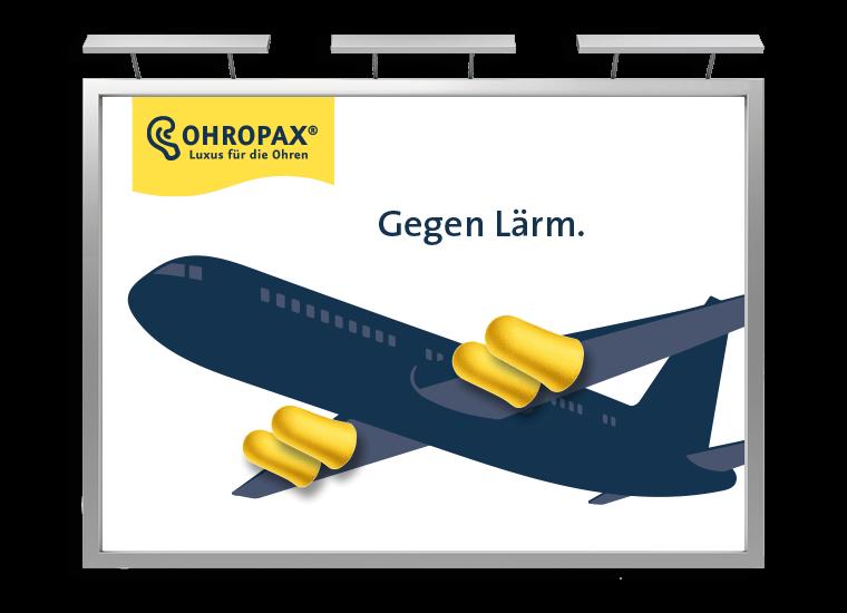 OHROPAX Großfläche Flugzeug