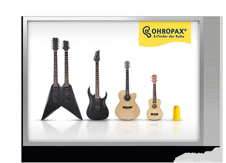 Ohropax Kampagne Laermtreppe - Gitarre