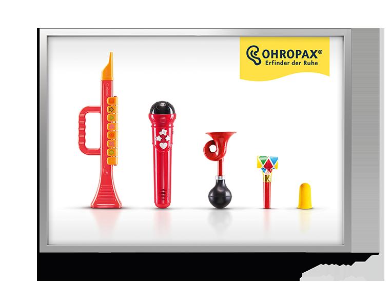 Ohropax Kampagne Laermtreppe - Spielzeug