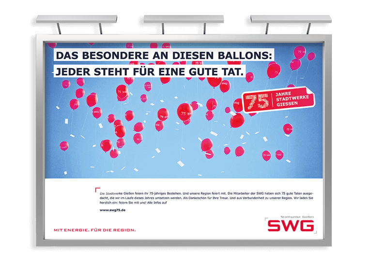 SWG 75 Jahre Großfläche
